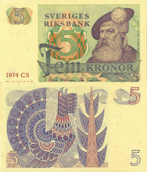 Picture of Sweden 5 Kronor 1965-81 P51 Unc