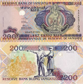 Picture of Vanuatu 200 Vatu P8  Unc