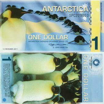 Picture of Antarctica 1 Dollar 2011 Plastic