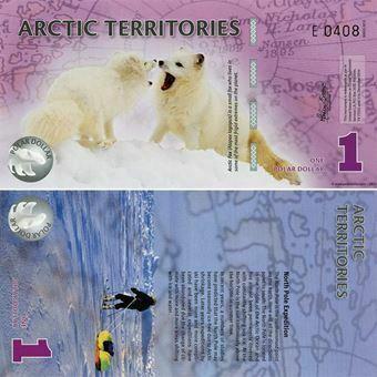 Picture of Arctic Territories 1 Dollar 2012 Plastic Unc