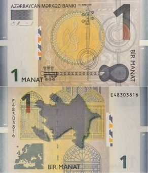 Picture of Azerbaijan 1 Manat 2005 P24