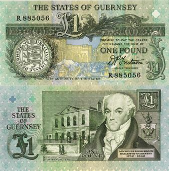 Picture of Guernsey £1 nd (1991) P52 Unc