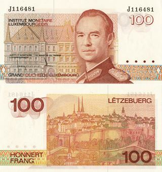 Picture of Luxembourg 100 Francs nd P58b Unc