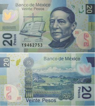 Picture of Mexico 20 Pesos 2011 P122 Plastic Unc