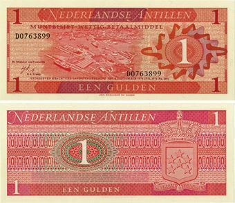 Netherlands Antilles 1 Gulden 1970 P20 Unc