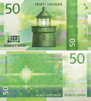 Picture of Norway 50 Kroner 2018 P-New Unc