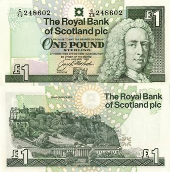 Picture of Royal Bank Scotland £1 1996 W Wmk P351c Unc