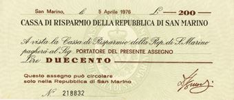 Picture of San Marino 200 Lire 1976 PS102