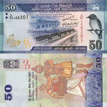 Picture of Sri Lanka 50 Rupees 2010 P124 Unc