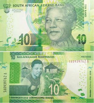 Picture of South Africa  10 Rand 2018 Mandela 100th Birthday P-New Unc