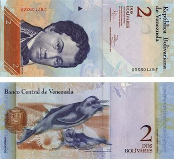 Picture of Venezuela 2 New Bolivares  P88 Unc