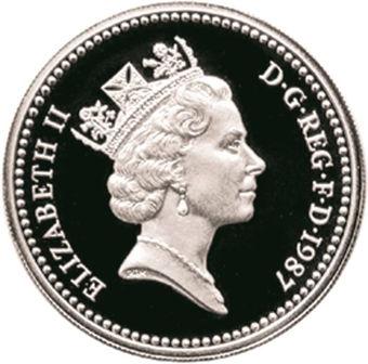 Picture of Elizabeth II, £1 1987 Silver Proof Piedfort