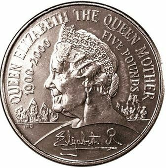 Picture of Elizabeth II, (Queen Mother 100th Birthday) £5 Uncirculated, 2000