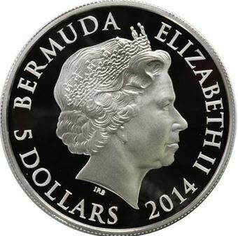 Picture of Bermuda, $5 Silver Proof 2014