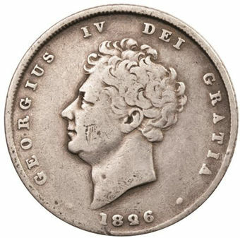 Picture of George IV, Shilling (Bare Head) Very Good