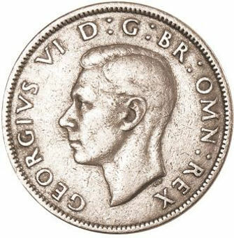 Picture of George VI, Florin Collection 1947-1951 Cupronickel