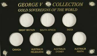 Picture of George V, Handmade Sovereign Capital Plastic Case