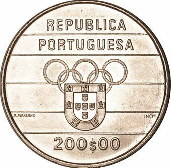Picture of Portugal, 200 Escudos 1992 Olympics