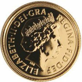 Picture of Elizabeth II, Half Sovereign 2007 BU