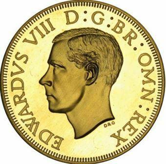 Picture of Australia, Edward VIII ,'Crown' Short Obv Legend, Goldine