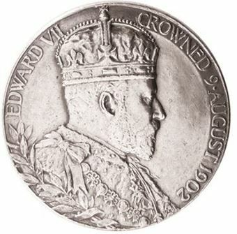 Picture of Edward VII Small Coronation Medallion EF