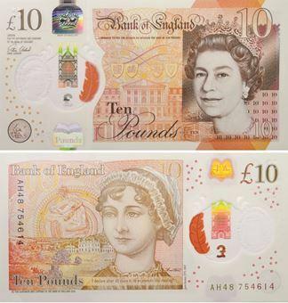 Picture of Victoria Cleland £10 2017 B415 Jane Austen Polymer Unc