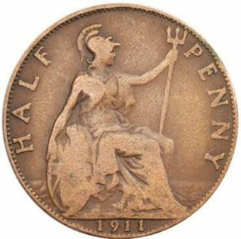 Picture of George V, Halfpenny Collection, 1911-25