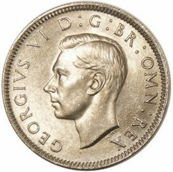 Picture of George VI, Shilling 1949 English reverse