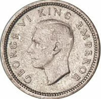 Picture of New Zealand, Threepence 1943