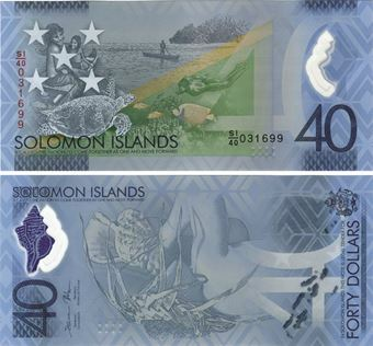 Picture of Solomon Islands 40 Dollars P-New Polymer Unc