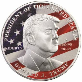 Picture of United States of America, Trump RWB Silver Coloured Medal