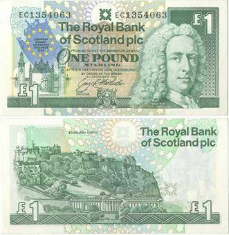 Picture of Royal Bank Scotland EU £1 1992 Unc