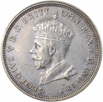 Picture of Australia, Florin 1927 Can Very Fine