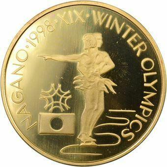 Picture of Romania, Ice Dance Olympics Piedfort Brass