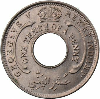 Picture of British West Africa 1/10 Penny 1928
