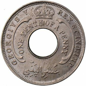 Picture of British West Africa 1/10th Penny 1933 Uncirculated