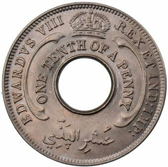 Picture of British West Africa, Edward VIII,  1/10th Penny Uncirculated, 1936