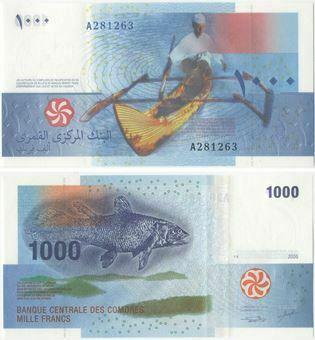 Picture of Comoros 1000 francs P16 Unc