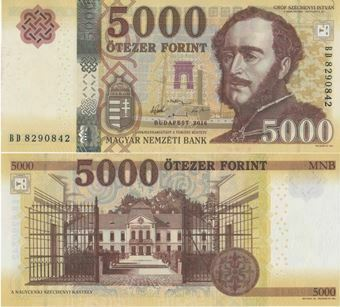 Picture of Hungary, 5000 Forint 2016 P-New Unc