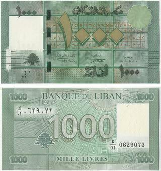 Picture of Lebanon 1000 Livres P90 Unc