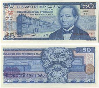 Picture of Mexico 50 Pesos 1981 P73 Unc
