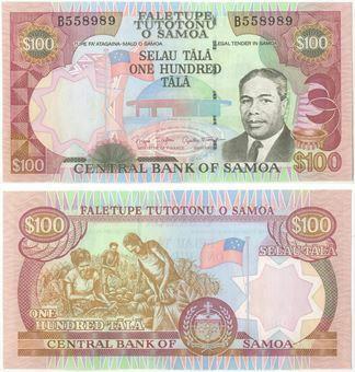Picture of Western Samoa,  100 Tala P37 Unc