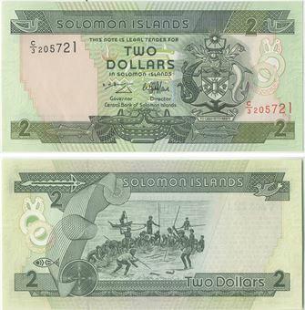 Picture of Solomon Islands  2 Dollars 1997 P18 Unc