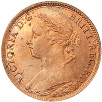 Picture of Victoria, Farthing 1890 (Arlington Hoard)