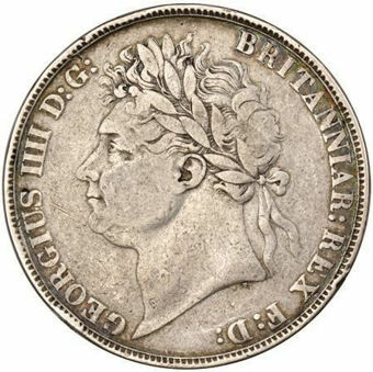 Picture of George IV, Silver Crown Fine
