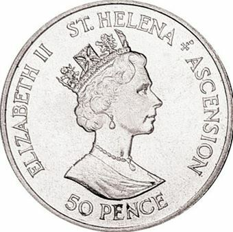 Picture of St. Helena and Ascension Islands, Andy & Fergie Double Country Crown 1986  Unc