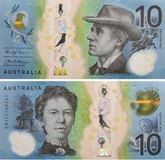 Picture of Australia 10 Dollars (2017) P63 Unc Polymer Plastic