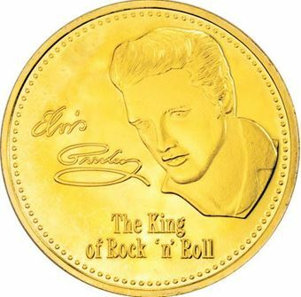 Picture of Elvis gold coloured