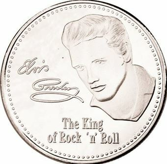 Picture of Elvis silver coloured