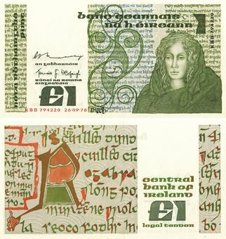 Picture of Ireland 1 Punt P70 Queen Medb Unc